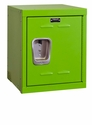 Sour Apple Green Kids Mini Locker Unassembled - 15''W x 15''D x 24''H