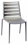 South Beach Stackable Outdoor Side Chair Titanium Silver [DV450TS-BFMS]
