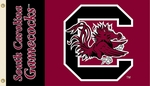 South Carolina Gamecocks 3' X 5' Flag with Grommets - Mascot Design [95526-FS-BSI]