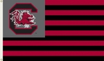South Carolina Gamecocks 3' X 5' Flag with Grommets - Striped USA Style [95126-FS-BSI]