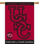 South Carolina Gamecocks 'Fighting Gamecocks' 2-Sided 28'' X 40'' Banner with Pole Sleeve [96026-FS-BSI]