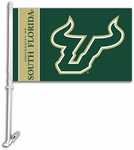 South Florida Bulls Car Flag with Wall Brackett [97062-FS-BSI]