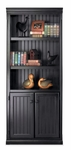 kathy ireland Home™ Southampton Collection 30''W x 73''H Bookcase with Lower Doors - Onyx Black [SO3072D-FS-KIMF]