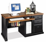 kathy ireland Home™ Southampton Collection 57.75''W x 30''H Single Pedestal Computer Desk - Onyx Black [SO570-FS-KIMF]