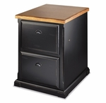 kathy ireland Home™ Southampton Collection 23''W x 30''H Two Drawer File - Onyx Black [SO201-FS-KIMF]