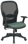Space 2387 Series Professional Managers Chair with Air Grid Back and Fabric Seat [2387C-FS-OS]