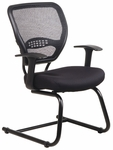 Space Air Grid Series Air Grid Back Visitors Chair with Mesh Seat - Black [5505-FS-OS]