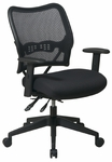 Space Air Grid Series Deluxe Swivel Task Chair with Adjustable Height Mesh Seat - Black [13-37N9WA-FS-OS]