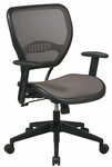 Space Air Grid Latte Air Grid Back and Seat Task Chair with Adjustable Arms and Lumbar Support - Latte [55-88N15-FS-OS]