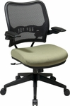 Space Deluxe Air Grid® Back Chair with Custom Fabric Seat and 2-to-1 Synchro Tilt Control [13-7N1P3-FS-OS]