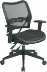 Space Deluxe Air Grid Seat and Back Swivel Chair with Dual-function Control - Black [13-77N9WA-FS-OS]