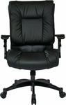 Space Black Eco Leather Conference Chair with Cantilever Arms and Pillow Top Seat and Back - Black [9333E-FS-OS]