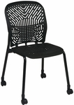 Space Flex Seat and Back Visitor Chair - Set of 2 - Raven and Black Frame [801-333-FS-OS]