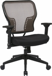 Space Air Grid Back and Padded Mesh Seat Chair with 2-to-1 Synchro Tilt Control and Height Adjustable Padded Arms - Latte [213-38N1F3-FS-OS]