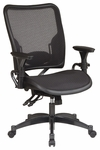 Space Professional Dual Function Ergonomic Air Grid Chair with Gun Metal Finish Accents and Adjustable Arms [6236-FS-OS]