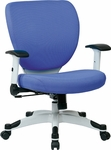 Space Pulsar Fabric Seat and Back Managers Office Chair - Dove Sky [5200W-5877-FS-OS]