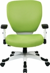 Space Pulsar Padded Mesh Seat and Back Managers Office Chair - Green [5200W-6-FS-OS]