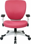 Space Pulsar Padded Mesh Seat and Back Managers Office Chair - Pink [5200W-261-FS-OS]