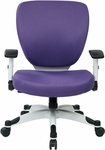 Space Pulsar Padded Mesh Seat and Back Managers Office Chair - Purple [5200W-512-FS-OS]