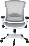 Space Pulsar White Frame Managers Office Chair with Mesh Seat and Back [317W-W11C1F2W-FS-OS]