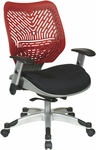 Space REVV Self Adjusting SpaceFlex Back and Mesh Seat Managers Chair with Adjustable Arms - Cosmo Back and Raven Seat [86-M39C625R-FS-OS]