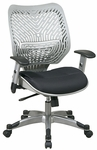 Space REVV Self Adjusting SpaceFlex Back and Mesh Seat Managers Chair with Adjustable Arms - Fog Back and Raven Seat [86-M34C625R-FS-OS]