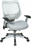 Space REVV Series Mesh Chair with Seat Height Adjustment and Adjustable Arms - Ice Back and Shadow Seat [86-M22C625R-FS-OS]