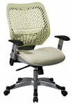 Space REVV Self Adjusting SpaceFlex Back and Mesh Seat Managers Chair with Adjustable Arms - Kiwi [86-M66C625R-FS-OS]