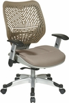 Space REVV Self Adjusting SpaceFlex Back and Mesh Seat Managers Chair with Adjustable Arms - Latte [86-M88C625R-FS-OS]