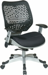 Space REVV Series Mesh Chair with Seat Height Adjustment and Adjustable Arms - Raven [86-M33C625R-FS-OS]