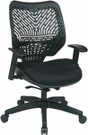 Space REVV Self Adjusting SpaceFlex Back and Mesh Seat Managers Chair with Adjustable Arms - Raven Back and Raven Seat [86-M33BN2W-FS-OS]