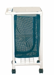 Space Saving Single Hamper with Mesh Bag and Casters - 18.5''W X 21''D X 37.5''H [213-S-MJM]