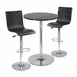 Spectrum 3-Pc Pub Table Set with L-Back Seats [93345-FS-WWT]