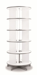 Moll 5 - Tier Spin N File Rotary Binder Storage Carousel for Letter Sized Materials - White [TURN5-FS-EOS]