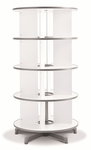 Moll 4 - Tier Spin N File Rotary Binder Storage Carousel for Letter Sized Materials - White [TURN4-FS-EOS]
