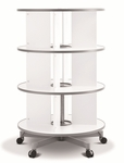 Moll 3 - Tier Spin N File Rotary Binder Storage Carousel for Letter Sized Materials - White [TURN3-FS-EOS]