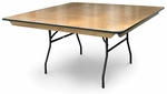 36'' Square Plywood Folding Table with Locking Wishbone Style Legs [70065-MCC]