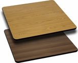Square Table Top with Reversible Natural or Walnut <font color = blue><b>Laminate</b></font> Top
