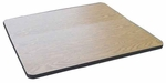 24'' Square High Pressure Laminate Table Top with Black T-Mold [CT24S-CRL]