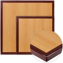 Square Two-Tone <font color = blue><b>Resin</b></font> Cherry Table Top with Mahogany Edge
