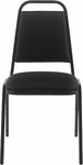 Fabric Stack Chair without Arms - Black [OTG11934-QL10-FS-GLO]