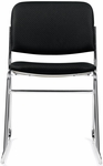Armless Fabric Upholstered Stack Chair - Black [OTG11697-QL10-FS-GLO]