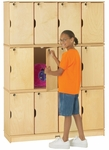 Stacking Lockable Lockers - 12 Individual Lockers [4697JC-JON]