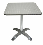 Stainless Steel Square Table Top with Aluminum Base [760S-HND]