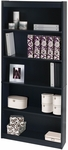 11.6''L x 29.5''W x 72''H Standard Laminate Bookcase with Adjustable Shelves - Charcoal [65715-3167-FS-BS]