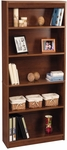 11.6''L x 29.5''W x 72''H Standard Laminate Bookcase with Adjustable Shelves - Tuscany Brown [65715-3163-FS-BS]