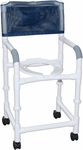 Standard Deluxe Adjustable Shower Chair with Casters - 22''W X 18''D X 40''H [118-3TW-ADJ-MJM]