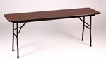 Fixed Height Rectangular Melamine Top Folding Table - 18''D x 48''W [CF1848M-CRL]