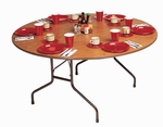 Standard Fixed Height Melamine Top Folding Table - 48'' Diameter [CF48MR-CRL]