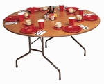 Standard Fixed Height Solid Plywood Core Round Folding Table - 60'' Diameter [PC60P-CRL]